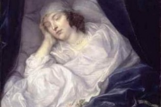 Venetia, Lady Digby on her deathbed by Sir Anthony Van Dyck