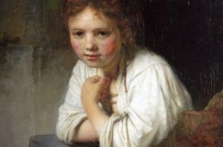 Rembrandt 'Girl at a Window' detail