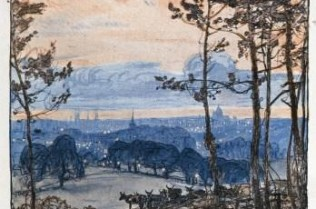 View from Dulwich Woods 1927 by Donald Maxwell