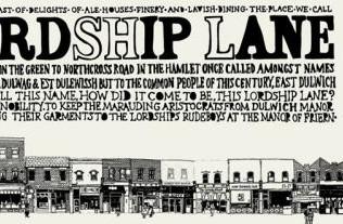 Lordship Lane (detail) by Vic Lee