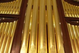 The restored 1760 organ by George England