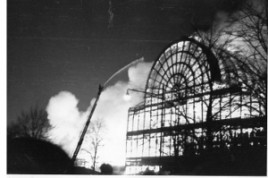 Crystal Palace on fire 1936 (image courtesy of Crystal Palace Museum)