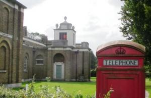 Mausoleum and phone box