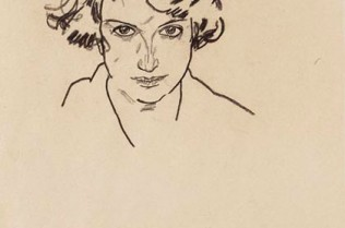Egon Schiele - 'Portrait of a Girl'