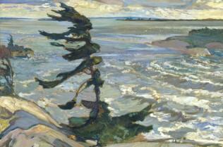 Frederick Horsman Varley, Stormy Weather, Georgian Bay, 1921 Oil on canvas, 132.6 x 162.8 cm