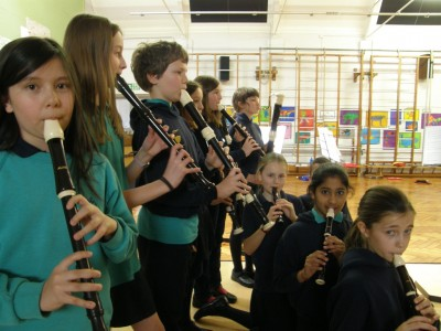 The recorder teacher at dulwich hamlet junior school the festival