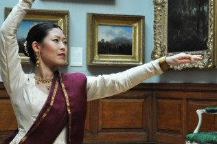 Iris Chan performing the classical Indian dance form, Kathak