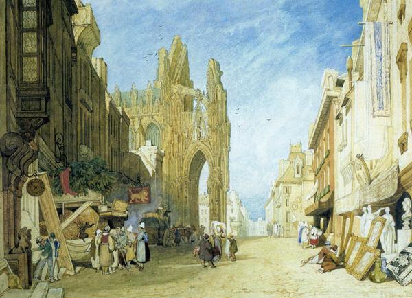 John Sell Cotman, Alençon, 1823, watercolour, 432 x 584 mm, © Birmingham Museum and Art Gallery