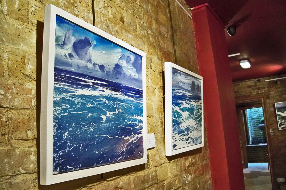 Michael Sole's seascapes at GX Gallery.