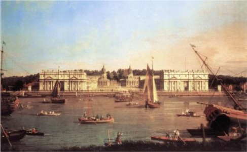 Canaletto - National Maritime Museum BHC1827. Greenwich Hospital from the North Bank of the Thames (1750-1752