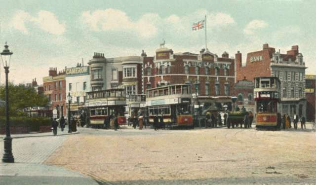 Trams at New Cross Gate, New Cross, c. 1910