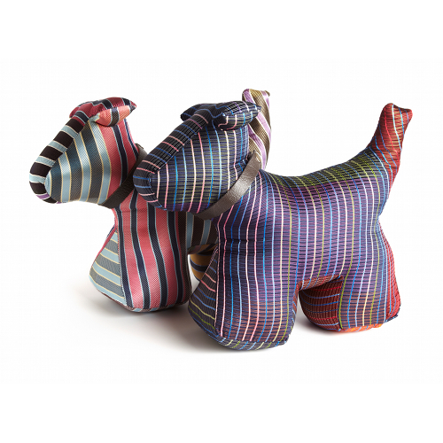 simon carter silk tie dog door stops