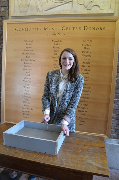 Charlotte Ritchie signing block for wall