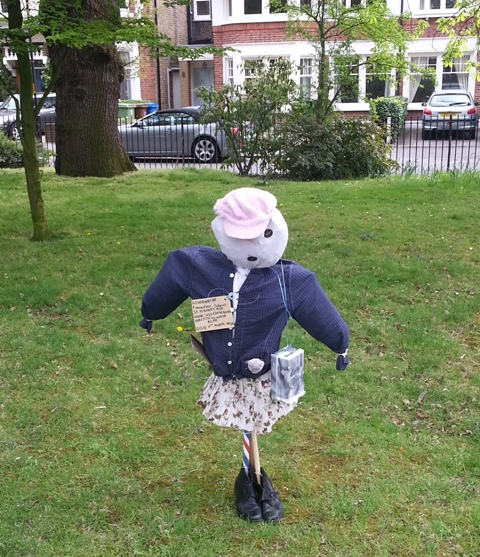 Scarecrow in Court Lane Gardens