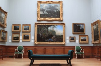 The Dulwich Picture Gallery has beautiful symmetry in its displays.