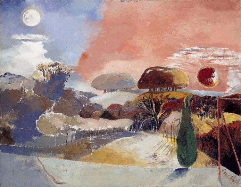 'Landscape of the vernal equinox'. Paul Nash (1944). If you can find it on a billboard, please send me a photo!