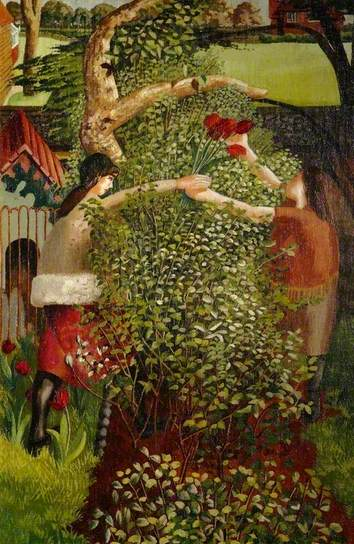 'Neighbours'. Stanley Spencer. 1936.