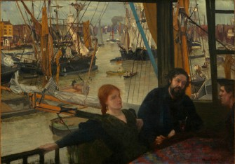 James Abbott McNeill Whistler (1834-1903), Wapping, 1860-1864, oil on canvas, 72 ×101.8cm, John Hay Whitney Collection, Image courtesy National Gallery of Art, Washington.