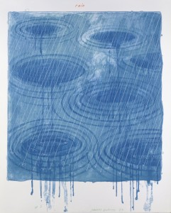 "David Hockney, Rain From The Weather Series, 1973, Lithograph And Screenprint, 39"" x 30 1/2"" Edition: 98, © David Hockney / Gemini G.E.L."