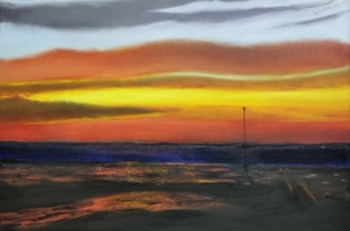 Sunset-over-Whitstable-by-Martin-Fraser-45-x-35cm-e1391208796745