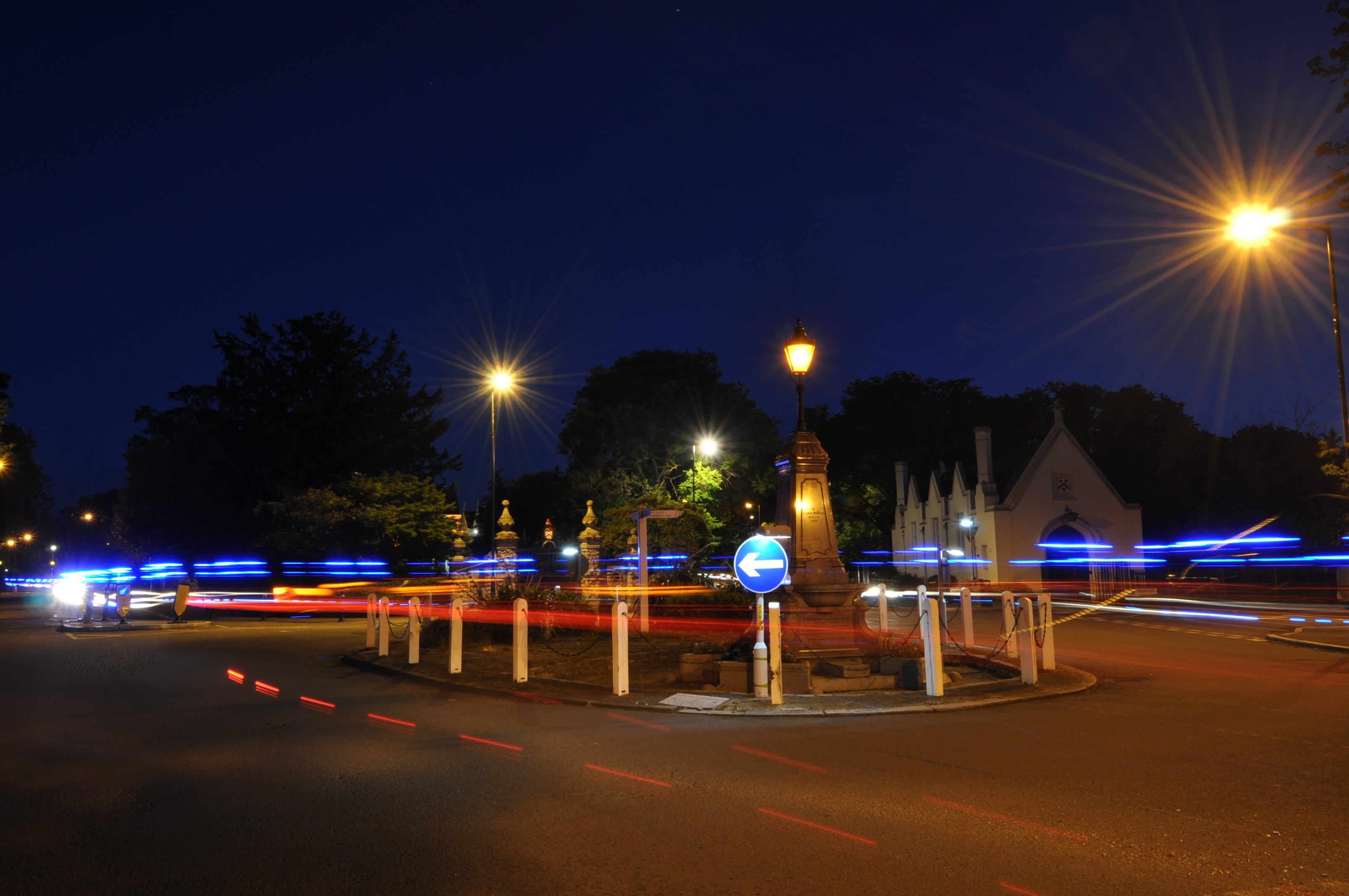 Highly Commended - Hugh Pimblett roundabout at night, slow exposure.