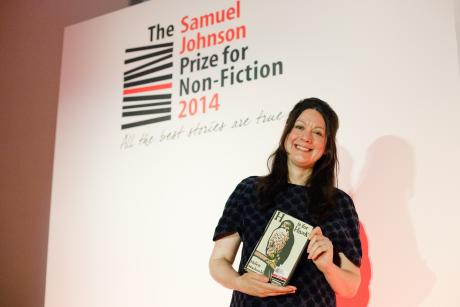 Helen Macdonald wins 2014 Samuel Johnson Prize for Non-Fiction for H is For Hawk - copyright Megan Taylor