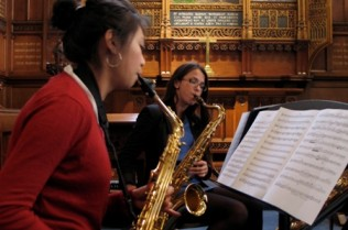 Saxophone-Quartet-lunchtime-concert-in-Chapel1