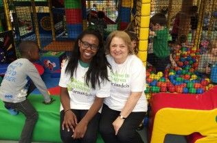 Barnardo's volunteers Mimi Soji-Akinyema and Pat Ruvany