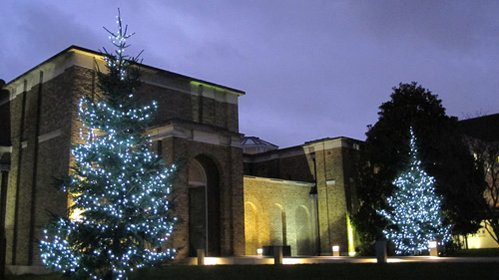 The most beautiful Christmas trees outside Dulwich Picture Gallery