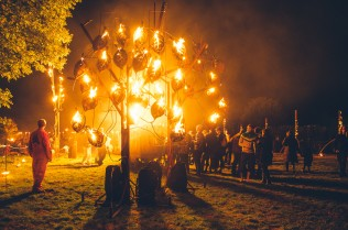 The Fire Garden, created by Walk the Plank, Festival Number 6, © Danny North and Andrew Whitton