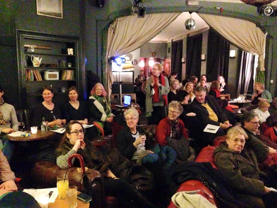 The audience at The Bigger Picture film club, East Dulwich