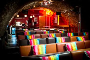 Interior of Whirled Cinema