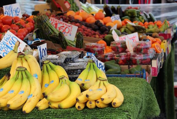Fresh fruit outside Brixton Market