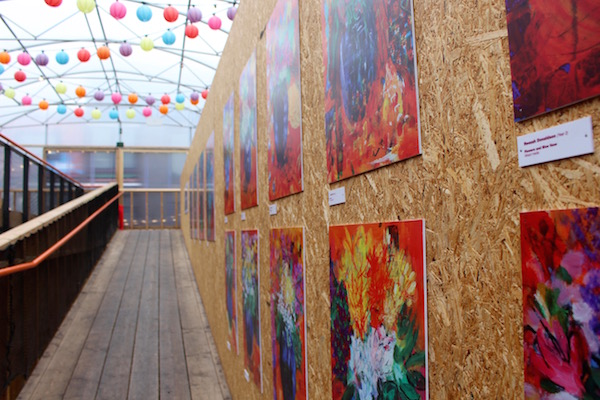 Primary school art on display at Pop Brixton.