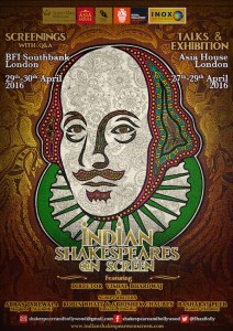 Promotional poster for Indian Shakespeares on Screen