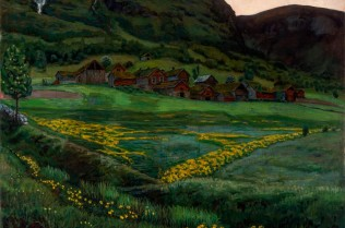 Nikolai Astrup, A Clear Night in June, 1905-1907, Oil on canvas, 148 x 152 cm, The Savings Bank Foundation DNB/The Astrup Collection/KODE Art Museums of Bergen. Photo © Dag Fosse/KODE
