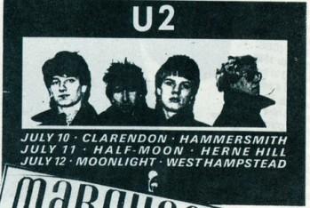 U2 Half Moon Herne Hill poster 1980