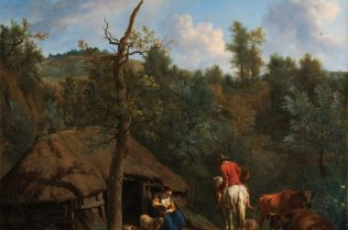 Adriaen van de Velde, The Hut, 1671, Oil on canvas, 76 x 65 cm, Rijksmuseum, Amsterdam