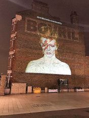 David Bowie on the Bovril wall