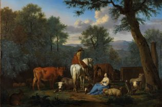 Adriaen van de Velde, Landscape with cattle and figures, 1664, Oil on canvas, 125.7 x 167 cm, © Fitzwilliam Museum, Cambridge