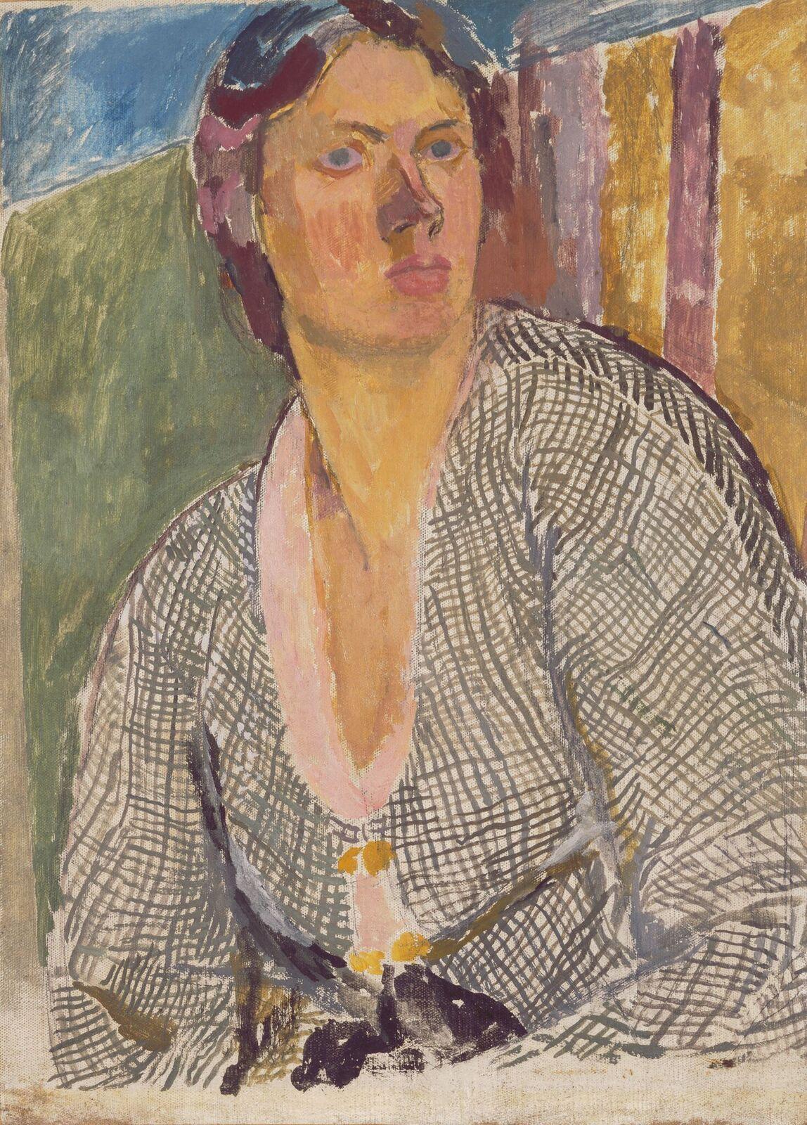 Vanessa Bell, VirginiaWoolf, c. 1912, oil on board, 40 x 34 cm,National Portrait Gallery, London, NPG 5933.©National Portrait Gallery, London